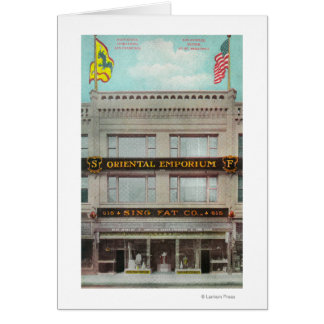 The Sing Fat Co, Oriental Emporium Greeting Card