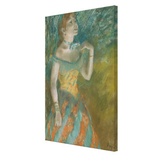 The Singer in Green Canvas Print
