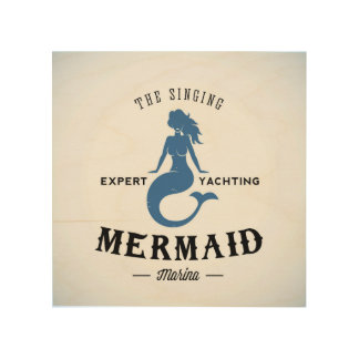 The Singing Mermaid Poster Wood Canvases