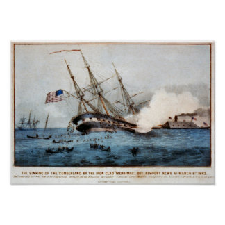 "The sinking of the ""Cumberland"" Poster"