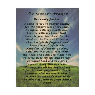 The Sinner's Prayer Wood Canvas