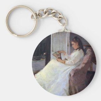 The sister of the artist at a window by Morisot Key Chains