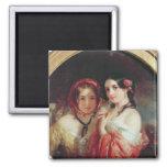 The Sisters Fridge Magnet