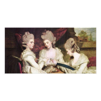 The Sisters Waldegrave By Reynolds Sir Joshua Photo Greeting Card