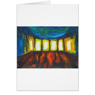 The Six Doors (spiritual expressionism ) Greeting Card