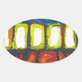 The Six Doors (spiritual expressionism ) Oval Sticker