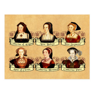 The SIx Wives of Henry VIII Classic Postcard