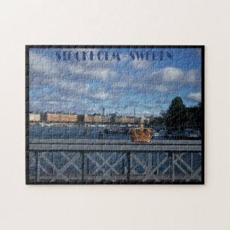 The Skeppsholm Bridge - Stockholm - Sweden Jigsaw Puzzle