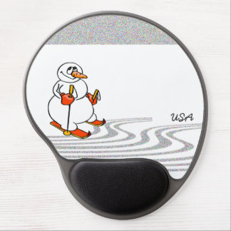 The Skiing Snowman - Gel Mouse Pad