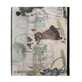 The Skipping Game, plate 115 from 'Le Bon Genre', iPad Folio Cases