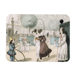 The Skipping Game, plate 115 from 'Le Bon Genre', Rectangular Photo Magnet