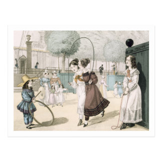 The Skipping Game, plate 115 from 'Le Bon Genre', Postcard