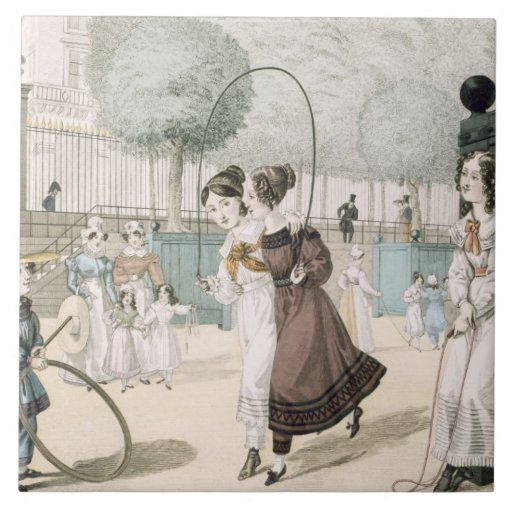 The Skipping Game, plate 115 from 'Le Bon Genre', Tile