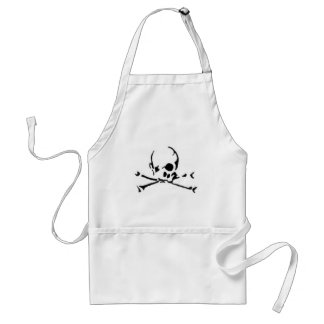 The Skull and Cross White Apron
