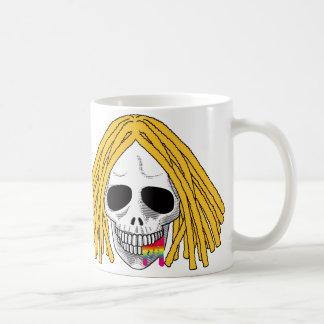 The Skull Smiley Dreadlocks Blond Rainbow B Coffee Mug