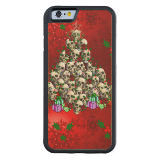 The Skulls of Christmas Maple iPhone 6 Bumper Case