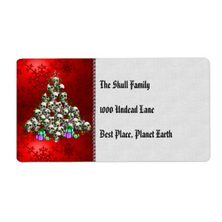 The Skulls of Christmas Shipping Label