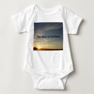 The sky is limitless baby bodysuit