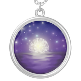 The sky is made of Diamonds Silver Plated Necklace