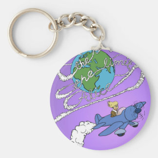 the sky is the limit alice.jpg basic round button key ring