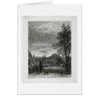 The Skylark (etching) Card