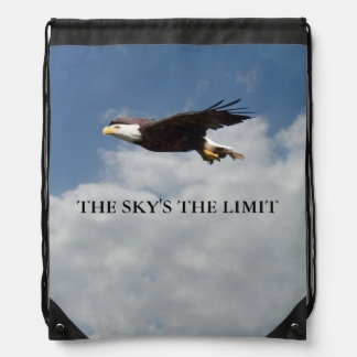 The Skys The Limit Drawstring Bag