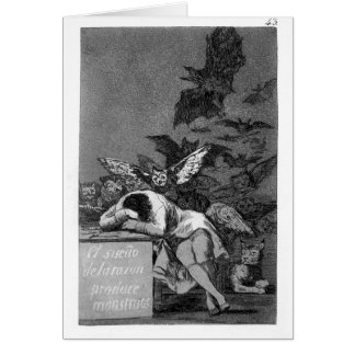 The sleep of reason produces monsters by Francisco Greeting Card