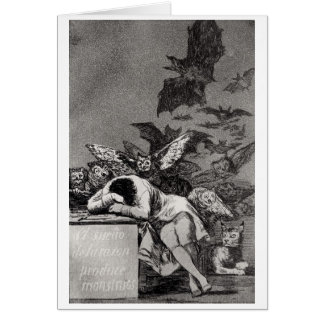 The Sleep of Reason Produces Monsters Greeting Card
