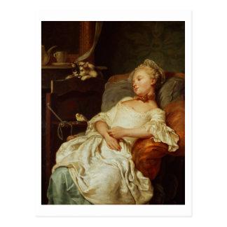 The Sleeper, 1759 (oil on canvas) Postcard