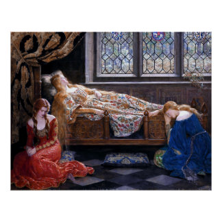 The Sleeping Beauty by John Collier 1921 Poster