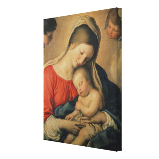 The Sleeping Christ Child (oil on canvas) Canvas Print