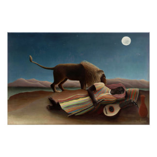 The Sleeping Gypsy Henri Rousseau Posters