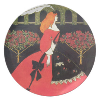 The Slippers of Cinderella by Aubrey Beardsley Dinner Plates