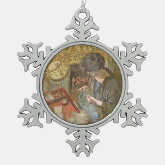 The Small Drawing Room Snowflake Pewter Christmas Ornament