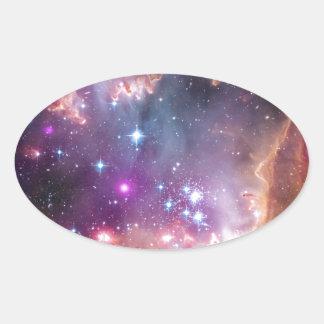 The Small Magellanic Cloud Oval Sticker