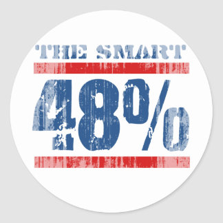 The smart 48 percent Faded.png Sticker