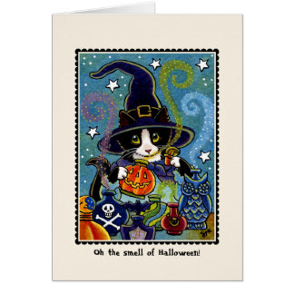 The smell of Halloween! Kitty Cat Card