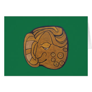 THE SMILING MAYAN MEDALLION- GREEN CARD