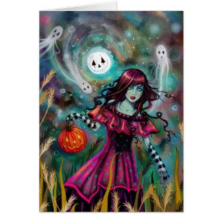 The Smiling Moon Gothic Fantasy Halloween Art Card
