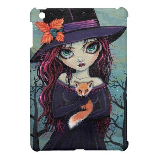 The Smirking Fox Witch Big Eye Art iPad Mini Covers