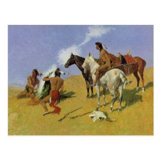 The Smoke Signal ~ Frederic Remington Postcard