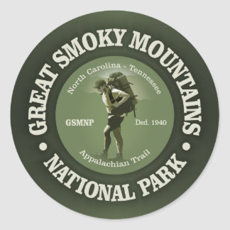The Smokies Classic Round Sticker
