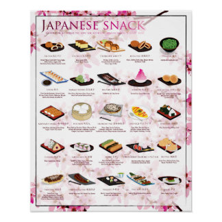 THE SNACK POSTER, 16X20, SAKURA BACKGROUND POSTER