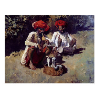 The Snake Charmers, Bombay by Edwin Lord Weeks Postcard