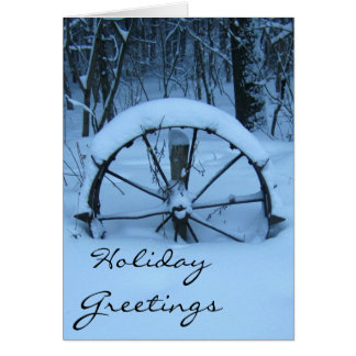 The Snow Covered Wagon Wheel Greeting Card