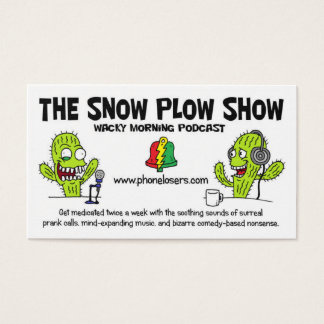 The Snow Plough Show Business Cards