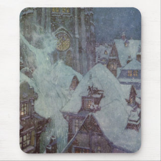 The Snow Queen by Edmund Dulac Christmas Fairytale Mouse Pad