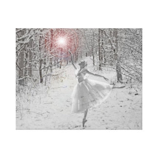 The Snow Queen Stretched Canvas Prints