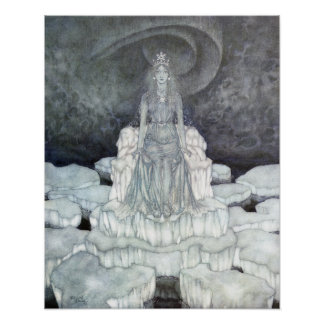 The Snow Queen's Palace by Edmund Dulac Poster