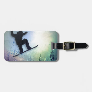 The Snowboarder: Air Luggage Tag